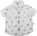 Nino Bambino Boys Printed Casual White S...