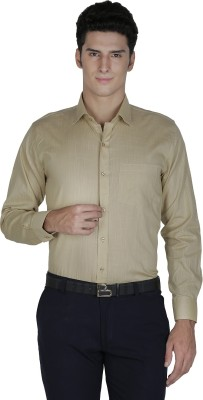 Asher Men's Solid Formal Brown Shirt