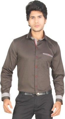 Red Country Men's Solid Casual Grey Shirt
