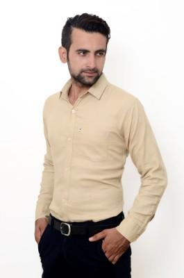 Hartmann Men's Solid Casual Gold Shirt