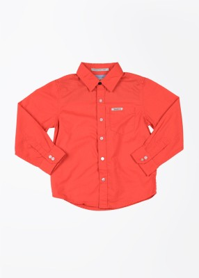 Pepe Jeans Boy's Solid Casual Red Shirt