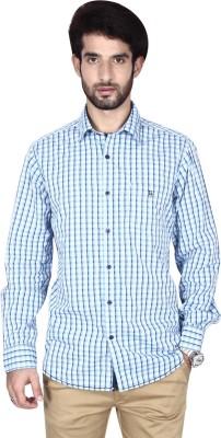 Brecken Paul Men's Checkered Casual Blue Shirt