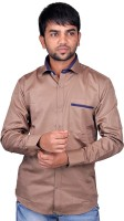 Dreamone Formal Shirts (Men's) - DreamOne Men's Solid Formal Brown Shirt