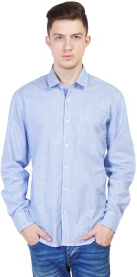 Seaboard Men's Solid Casual Blue Shirt