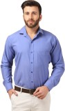 Mesh Men's Solid Formal Light Blue Shirt