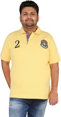 CIROCO Solid Men,s Polo Neck Yellow T-Shirt
