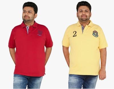 CIROCO Men's Solid Casual Maroon, Yellow Shirt