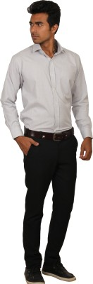Brumax Men's Solid Formal Grey Shirt