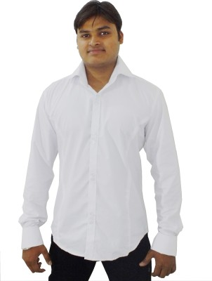 Archini Men's Solid Wedding, Party, Formal White Shirt