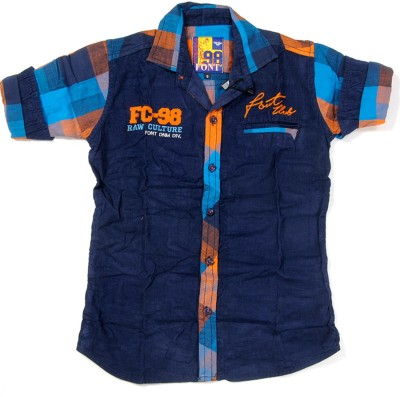 Font Kids Boy,s Solid Casual Orange Shirt