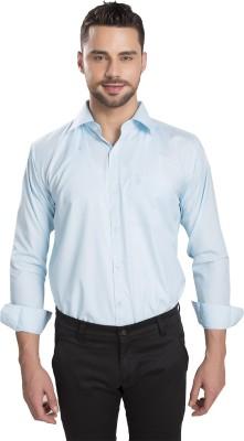 Ishin Designer Studio Men's Solid Casual Light Blue Shirt