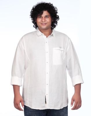 Ciroco Men's Solid Casual White Shirt