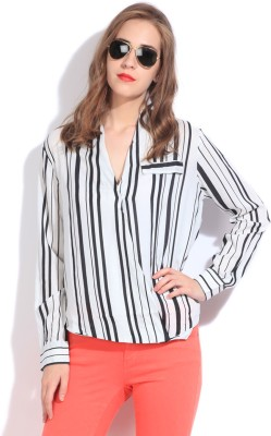 Remanika Women,s Striped Casual Shirt