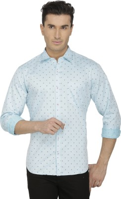 Spaky Men's Printed Casual Green Shirt