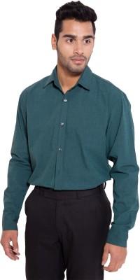 Deeksha Men's Solid Formal Blue Shirt