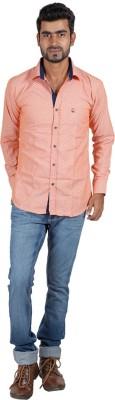 Sealion Men's Printed Casual Orange Shirt