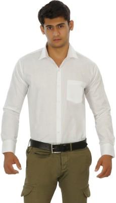 Venga Men's Solid Formal White Shirt