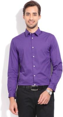 Arrow New York Men's Solid Formal Purple Shirt