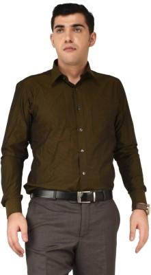 Hyphen Men's Checkered Formal Brown Shirt