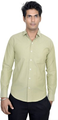 AF Men's Solid Casual Light Green Shirt