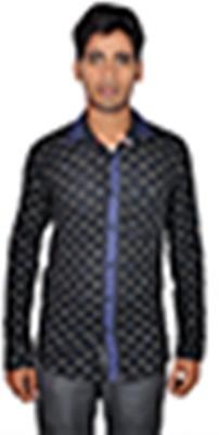 Royal Fashion Men's Printed Festive Black Shirt