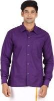Meenavision Formal Shirts (Men's) - MEENAVISION Men's Solid Formal Purple Shirt