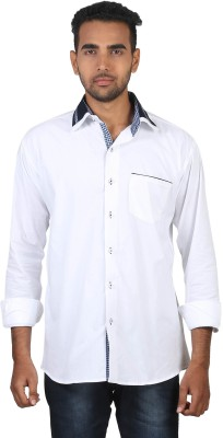Royal Choice Men's Solid Casual, Festive, Formal, Party White Shirt