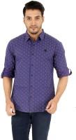 Spykar Men's Wear - Spykar Men's Printed Casual Blue Shirt