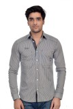 Parv Collections Men's Striped Casual Gr...