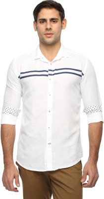 River Nation Men's Solid Casual White Shirt