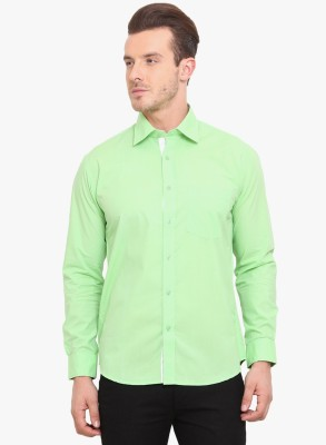 Erza Men's Solid Casual Light Green Shirt