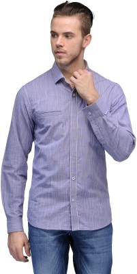 Canary London Men's Solid Casual Purple Shirt