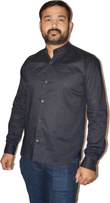 FPC Men's Solid Casual Black Shirt