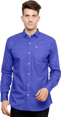 Ebry Men's Solid Casual Blue Shirt