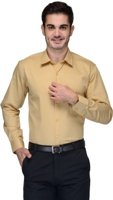 Being Fab Men's Solid Formal Brown Shirt