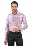 Solemio Men's Checkered Formal Red Shirt