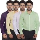 Deekshavastra Men's Solid Casual Purple ...