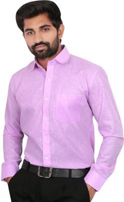 Caris Men's Solid Formal Purple Shirt