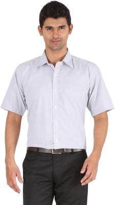 Frank & Jones Men,s Striped Formal Light Blue Shirt