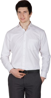 Robin Rider Men's Solid Formal White Shirt