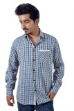 Tenor Men's Checkered Casual Blue, Black...