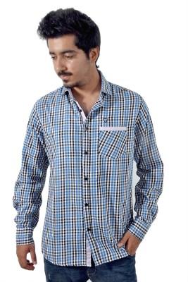 Tenor Men's Checkered Casual Blue, Black Shirt