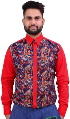 Home Shop Gift Men's Printed Casual Red Shirt