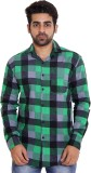 Lime Time Men's Checkered Casual Green S...