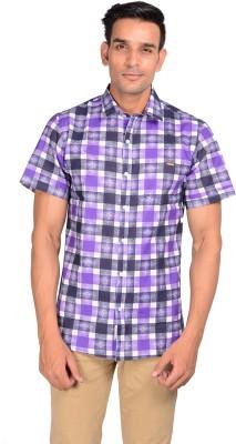 GARGI FASHIONS Men's Checkered Casual Purple, Black Shirt