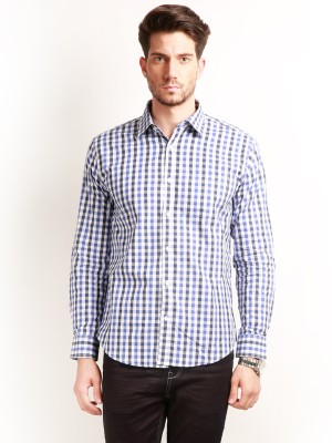 Change 360 Men's Checkered Casual Purple Shirt