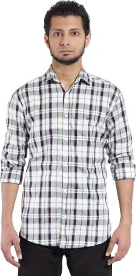 Chaman Handicrafts Men's Checkered Casual Black Shirt