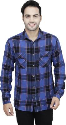 Fashion Conscious Men's Checkered Casual Multicolor Shirt