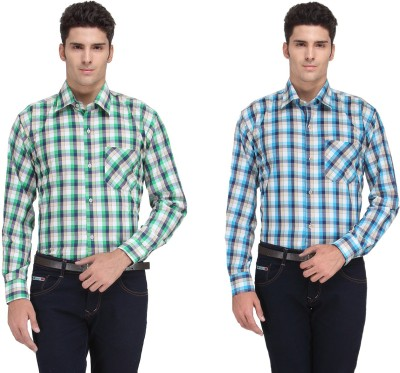 Ausy Men's Checkered Casual Multicolor Shirt