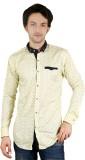 Zrestha Men's Printed Casual Yellow Shir...